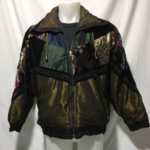 Woman's Large Vintage reversible Jacket